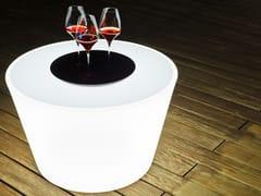 Tavolino da giardino luminoso in plasticaBASS - SMART AND GREEN