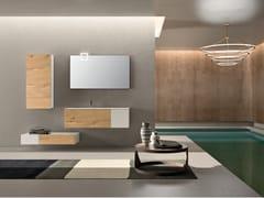 Mobile lavabo con top in Kerlite con lavabo integratoBASSANO - COMPOSIZIONE 1 - ALPEMADRE