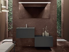 Mobile lavabo singolo top con lavabo integrato in KerliteBASSANO - COMPOSIZIONE 10 - ALPEMADRE