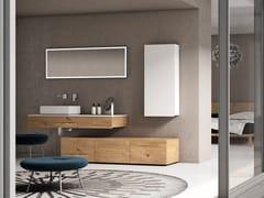 Mobile lavabo singolo in rovere con pensileBASSANO - COMPOSIZIONE 13 - ALPEMADRE