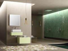 Mobile lavabo singolo sospeso con lavabo integratoBASSANO - COMPOSIZIONE 3 - ALPEMADRE
