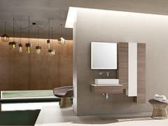 Mobile lavabo singolo sospeso in rovere con pensileBASSANO - COMPOSIZIONE 4 - ALPEMADRE