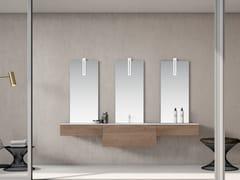 Mobile lavabo singolo sospeso in rovere con cassettiBASSANO - COMPOSIZIONE 9 - ALPEMADRE