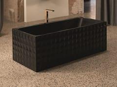 Vasca da bagno centro stanza rettangolare in acciaioBETTELOFT ORNAMENT MIDNIGHT | Vasca da bagno - BETTE