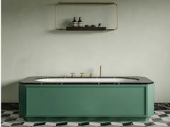 Vasca da bagno rettangolare con scocca in compensato marinoNOSTALGIA | Vasca da bagno - EX.T