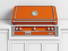 Barbecue a gas da incasso in acciaioBBQ42T | Barbecue da incasso - OFFICINE GULLO