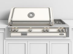 Barbecue a gas da incasso in acciaioBBQ56PT | Barbecue da incasso - OFFICINE GULLO
