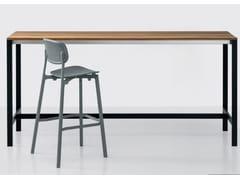 Tavolo alto da giardino rettangolare in teak BE-EASY SLATTED | Tavolo alto - Be-Easy Slatted