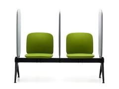 Seduta su barra con schienale e pannelli fonoassorbentiVIVA BENCH | Seduta su barra - VAGHI