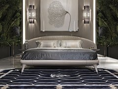 Letto imbottito matrimoniale in pelle PRINCESS | Letto - VISIONNAIRE BY IPE