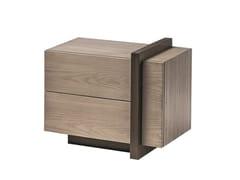 Comodino rettangolare in legno con cassettiBREAK | Comodino - SHAKE