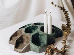 Centrotavola in marmoBEE GREEN GUATEMALA - TCC WHITESTONE