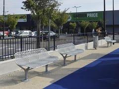 Panchina in metallo con schienaleKEO   Panchina - GHM-ECLATEC