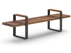Panchina in legno con braccioli senza schienaleBULL | Panchina - METALCO