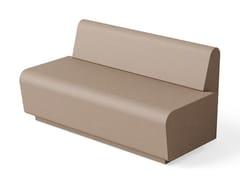Panca modulare in poliuretano con schienaleHUB | Panca con schienale - FIRPLAST