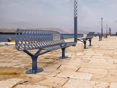 Panchina in metallo con schienaleKEA   Panchina con schienale - GHM-ECLATEC