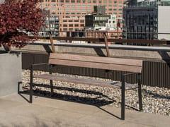 Panchina in legno con schienaleHARPO | Panchina con schienale - URBIDERMIS