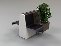 Panchina in pietra ricostruita con fioriera integrataCLING | Panchina con fioriera integrata - MANUFATTI VISCIO