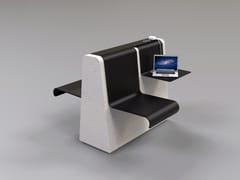 Panchina in pietra ricostruita con presa USBCLING | Panchina con presa USB - MANUFATTI VISCIO