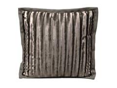 Cuscino a righe quadrato in tessuto BENEATH - Loveluxe