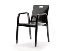 Sedia laccata con braccioli BENTWOOD CO01 | Sedia laccata - Krischanitz bentwood