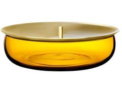 Contenitore in cristallo con coperchio in ottoneBERET MEDIUM - NUDE