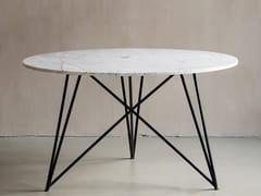 Tavolo rotondo in marmo e acciaioBERLIN   Tavolo in marmo - FOR ME LAB