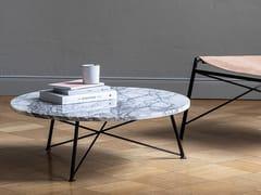 Tavolino rotondo in marmo di Carrara e acciaioBERLIN | Tavolino in marmo di Carrara - FOR ME LAB