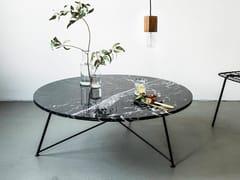 Tavolino rotondo in marmo e acciaioBERLIN   Tavolino rotondo - FOR ME LAB