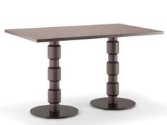 Tavolo rettangolare in legno massello e metallo BERLINO | Tavolo rettangolare - Berlino