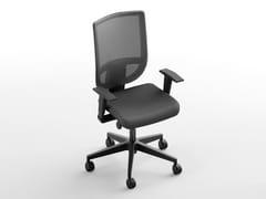 Sedia ufficio operativa con braccioli con ruoteBERNA | Sedia ufficio operativa con braccioli - CINQUANTA3