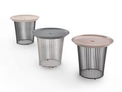 Tavolino rotondo con base in metallo e piano in ceramicaBERRY   Tavolino - FLEXFORM