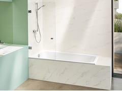 Vasca da bagno in acciaio con doccia da incasso BETTESPACE M -
