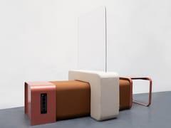 Divisorio modulare in plexiglass e tessutoBFLEX | Barriera parafiato - MARINE PEYRE