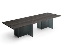 Tavolo rettangolare in legno e vetroBIG WAVE | Tavolo rettangolare - FIAM ITALIA