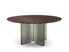 Tavolo rotondo in legno e vetroBIG WAVE | Tavolo rotondo - FIAM ITALIA
