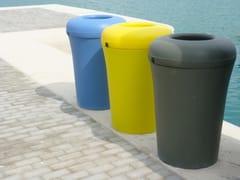 Portarifiuti in plastica con coperchio per esterniBINA - URBIDERMIS