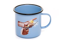 Mug in metallo smaltato BIRD | Mug - SELETTI