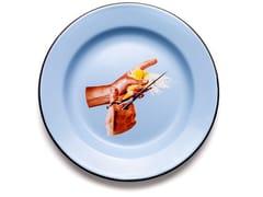 Piatto in metallo smaltatoBIRD | Piatto - SELETTI