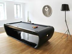 Tavolo da biliardo rettangolare in acciaio inoxBLACKLIGHT - BILLARDS TOULET
