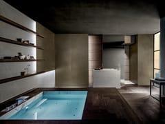 Arredo bagno completo in rovere e pietraBLADE   Arredo bagno completo - MODULNOVA