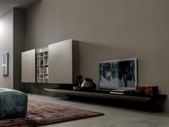 Parete attrezzata con porta tv in legno e alluminioBLADE | Parete attrezzata in legno - MODULNOVA