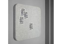 Lavagna per ufficio in tessuto a parete BLOC | Lavagna per ufficio in tessuto - Whiteboards