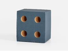 Elemento tridimensionale in terracotta per pareti divisorieBLOC MATT BLUE - MUTINA