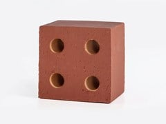 Elemento tridimensionale in terracotta per pareti divisorieBLOC MATT RED - MUTINA