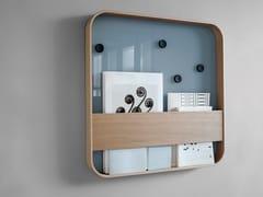 Lavagna per ufficio in legno e vetro a parete BLOC | Lavagna per ufficio in legno e vetro - Whiteboards