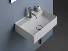 Lavabo singolo sospeso in ceramicaBLOCK   Lavabo singolo - GRUPPO P&G
