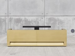 Banco per reception modulare in ottone BLOK | Banco reception in ottone - Blok