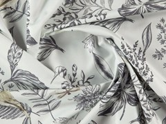 Tessuto stampato in cotone con motivi floreali per tendeFLEUR - MORE FABRICS