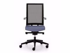 Sedia ufficio operativa ad altezza regolabile in rete a 5 razze con ruote BLUE | Sedia ufficio operativa in rete -
